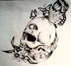 collection of 25 skull and butterfly designs