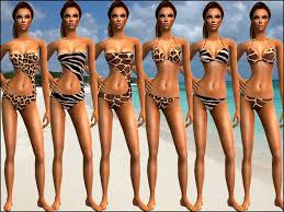 Liana Sims 2 Preview Women S Clothing Swimwear Mod The Sims Wild U0026 Animal Print Swimwear For Your