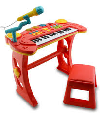 Christmas Cake Decorations Argos by Buy Chad Valley Sing Along Keyboard Stand And Stool Red At
