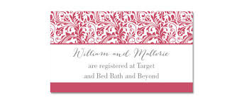 bridal registration registry inserts for wedding invitations wedding invitation