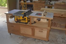 diy table saw stand with wheels table saw router cabinet finewoodworking