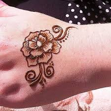 rose henna tattoo dubai hire art print by gauher peerji