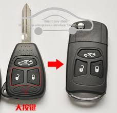 aliexpress location flip key shell modified for chrysler 300c remote combo 3 button no