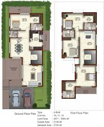 350 Sq Feet by 1001 Sq Ft 3 Bhk 3t Villa For Sale In Casagrand Builder Private