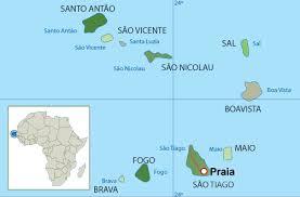 cape verde map world cape verde map and cape verde satellite images