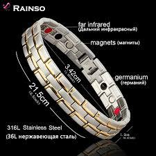germanium health bracelet images Healing magnetic bracelet men woman 316l stainless steel 3 health jpg