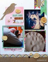 Dog Scrapbook Album Saying Goodbye Pet Memorial Scrapbook Layout Ecoscrapbook