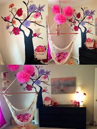 Hanging Chair For Girls Bedroom by Tween U0027s Room Ikea Furniture With Painted Tree And Hanging