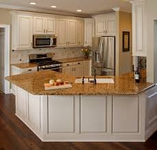 antique white kitchen cabinets with granite countertops designs