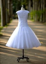 tea length reception wedding dress cap sleeves garden outdoor