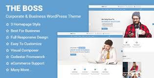 the boss corporate u0026 business wordpress theme business