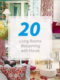 Floral Living Room Furniture 20 Living Rooms Blossoming With Florals Home Design Lover