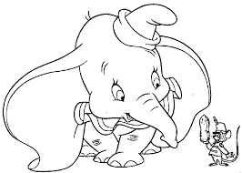 dumbo timothy mouse happy hold nut dumbo coloring pages