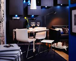 Home Design Ideas A Large Dining Room With A Black Dining Table - Ikea dining room ideas