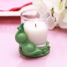 baby shower candle favors peas in a pod baby shower candle favor baby shower candles
