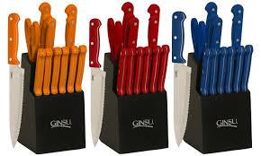 ginsu kitchen knives ginsu essential series knife block sets 14 groupon
