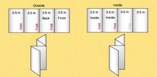 4 Sided Brochure Template 4 sided brochure template 14 standard types brochure size in