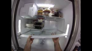 removal and cleaning of the bottom glass shelf on a samsung fridge