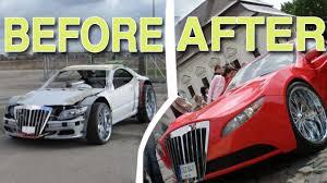 junkyard car youtube old car transform luxury supercar youtube