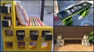 cinder block furniture backyard cinder block bench table and more