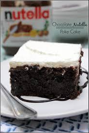 Halloween Poke Cake by Chocolate Nutella Poke Cake Recipe Poke Cakes Nutella And