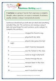 grade 3 grammar topic 35 sentence building worksheets lets