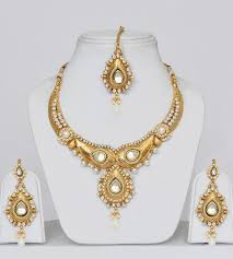 gold jewelry sets for weddings hindu wedding necklace gold plated polki wedding jewelry set