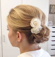 flower hair bun 20 pretty everyday bun updos updo hairstyles for summer 2017
