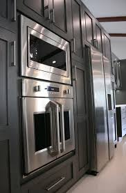 Stainless Kitchen Cabinets White Kitchen Cabinets With Stainless Steel Appliances Home