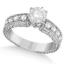 Circle Diamond Wedding Ring by Vintage Heirloom Round Diamond Engagement Ring 14k White Gold 1 75ct