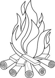 coloring pages of flames drawn flame coloring page pencil and in color drawn flame
