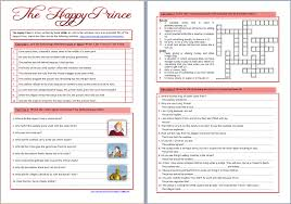 Beginning Middle And End Worksheets Around The World In English The Happy Prince By Oscar Wilde