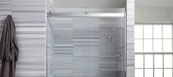 shower doors showering bathroom kohler sleek showering solutions