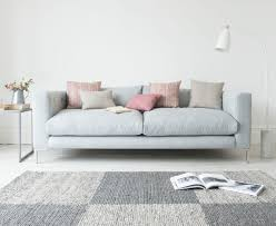 Ashley Yvette Sofa by Furniture Contemporary Elegant Living Room Grey Sofa White