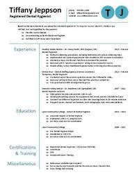 Dental Hygienist Sample Resume by Dental Hygienist Resume Get This And Other Extra Cool Resume