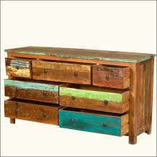 furniture stunning rustic reclaimed wood dresser with seven