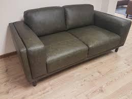 Leather 3 Seater Sofas Callisto Green Italian Leather 3 Seater Sofa