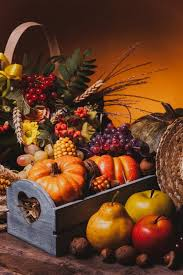 happy thanksgiving still fruits nuts and vegetables fall