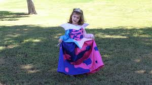 aurora the sleeping beauty ballgown in mixed blue and pink