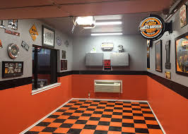 harley davidson garage flooring small harley themed garage