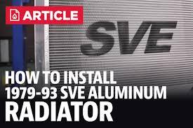 sve mustang aluminum radiator replacement kit 79 93 5 0l