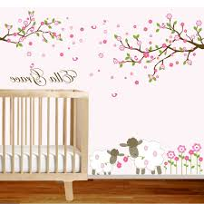 Removable Wall Decals For Nursery by Removable Wall Decals Nursery Wooden Side Table Flower And Ladybug