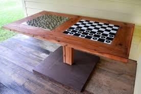 Outdoor Checker Table Made From 40 Patio Playroom And Outdoor Furniture Ideas