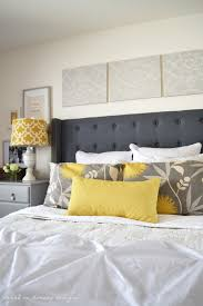 Yellow And Gray Wall Decor by Bedroom Wonderful Picture Of Bedroom Decoration Using Dark Grey
