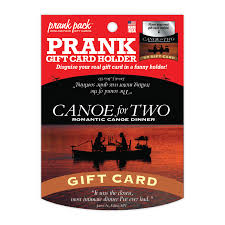 dinner and a gift card canoe for two gift card holder 30 watt