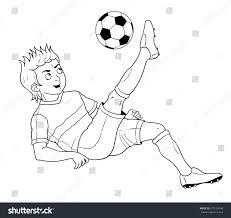 football soccer cute footballer coloring book stock illustration