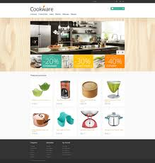 website template 46190 cookware kitchen supplies custom website