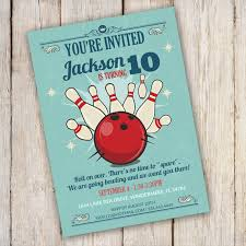 bowling birthday party invitation template edit with adobe