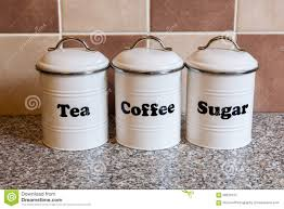 tea coffe and sugar containers stock photo image 68220412