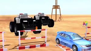 monster truck video for toddlers monster trucks police cars chasing cars helicopter cartoons for